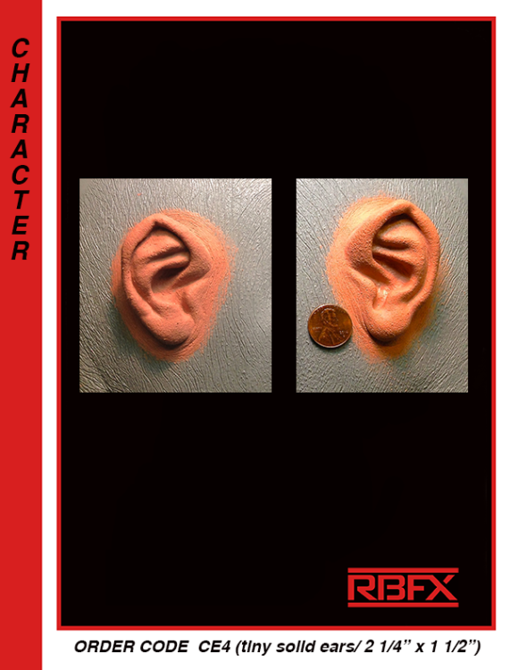 CE4 - small ears/ for bald caps or cowls only