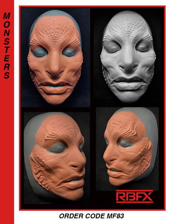 MF83 - sm. - med. alien/ mermaid face