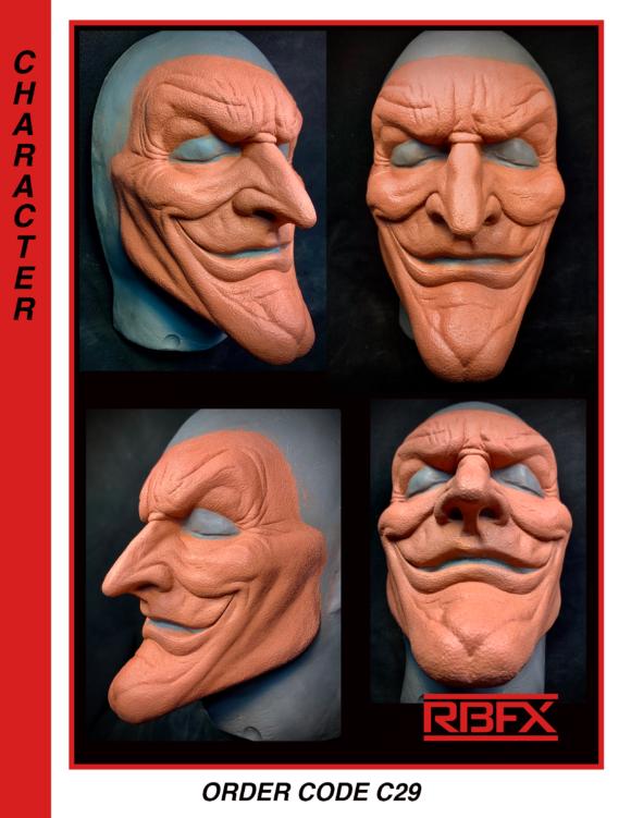C29 - joker/ alien/ devil/ clown face