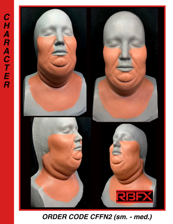 CFFN2 - sm. - med female fat/ overweight  cheeks & neck wrap