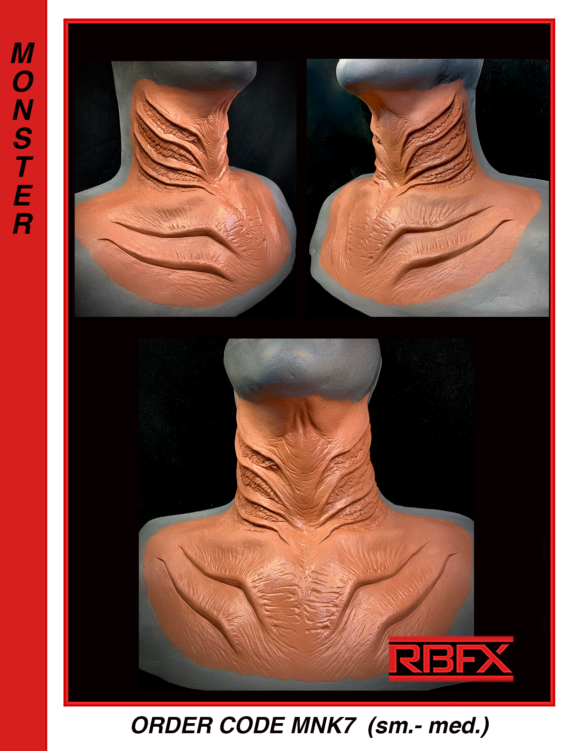 MNK7 (sm. - med.) - mermaid/ alien/ monster neck
