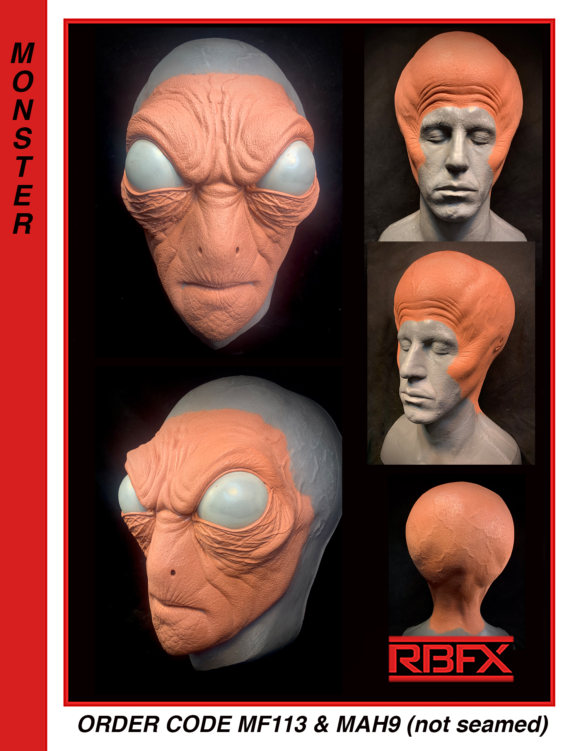MF113 & MAH9 (not seamed) - Alien/ Grey Alien/ Monster