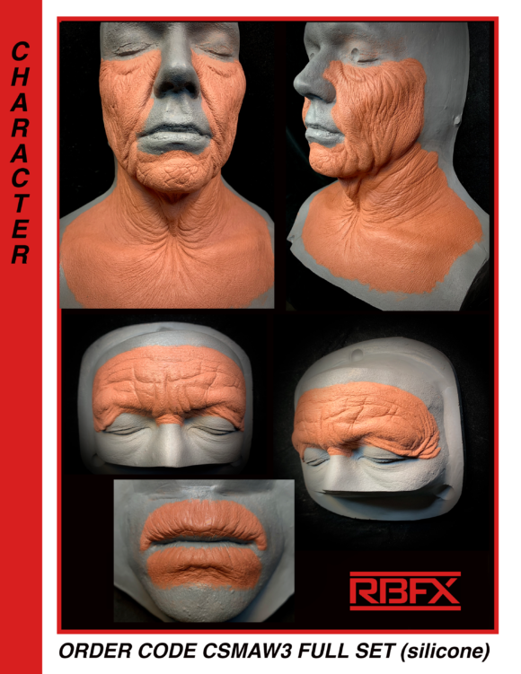 CSMAW3 FULL SET (silicone) - male old age