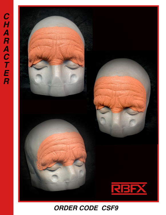 CSF9 - old age silicone forehead